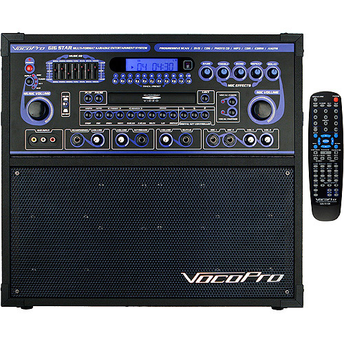 VocoPro Gig-Star 100 Watt Pro Karaoke Jam-Along System with Vocal Cancellation