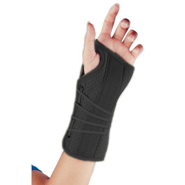 FLA Soft Fit Suede Wrist Brace - Black - Right Large