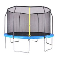 Airzone 14-Foot Trampoline, with Safety Enclosure, Blue