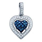 Gold and Diamonds CDPEOF1775-W 0. 21CT-DIA HEART PENDANT- Size 7
