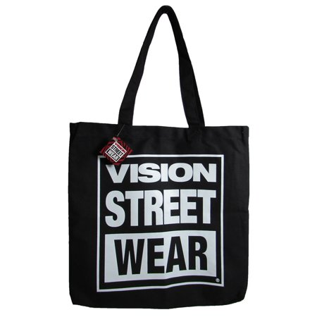 Unisex Canvas Tote Canvas Logo Shoulder Bag, Black