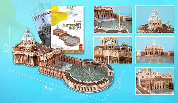 St Peters Basillca 144 Piece 3D Puzzle With Book by