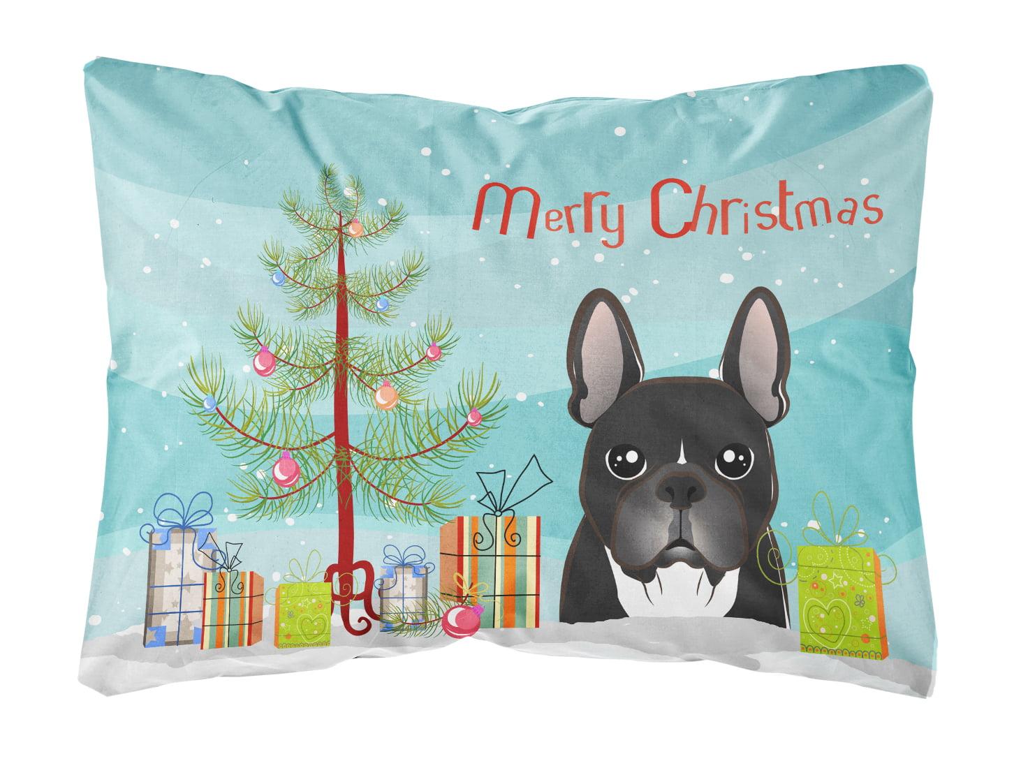 Christmas Tree and French Bulldog Fabric Decorative Pillow by Caroline's Treasures