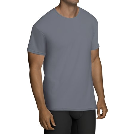 Men's EverLight Go Active Black and Gray Crew T-Shirts, 3 Pack ()