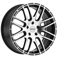 "Petrol P6A 19x8 5x114.3 (5x4.5"") +40mm Black/Machined Wheel Rim"