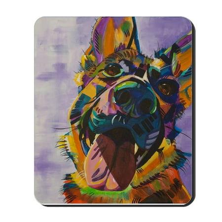 CafePress - German Shepherd Pup Art - Non-slip Rubber Mousepad, Gaming Mouse Pad (Pup Pad)