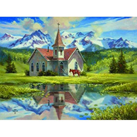 Almost Heaven 500 Piece Jigsaw Puzzle by SunsOut - Chapel theme (Halloween Themed Jigsaw Puzzles)