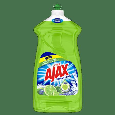 (2 Pack) Ajax Ultra Triple Action Liquid Dish Soap, Lime - 52 fluid ounce