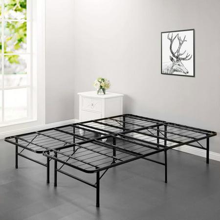 Modern Bi-Fold Folding Platform Metal Bed Frame Mattress Foundation BF