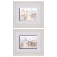 Paragon Coastal Catch Framed Wall Art - Set of 2