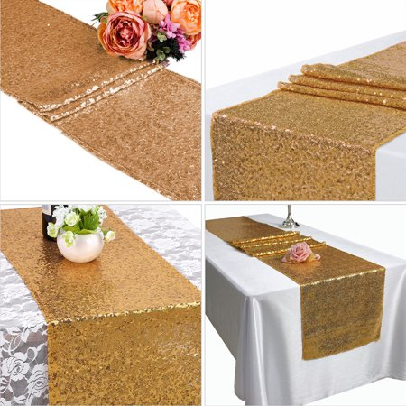 1/5/10pcs Gold Sequin Table Runners, Sparkly Table Cloth Fabric Tablecloth Wedding Christmas Thanksgiving Event Banquet Decor Photography Background Backdrop Photo Studio Props](Thanksgiving Paper Tablecloths)
