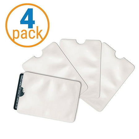 Pack of 4 RFID Credit Card Holder and Credit Card Protector (Credit Card Services For Small Business Owners)