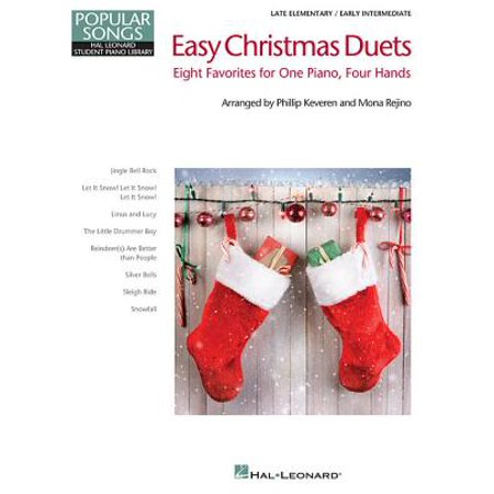 Easy Christmas Duets : Popular Songs Series Late Elementary/Early Intermediate Piano Duets ()