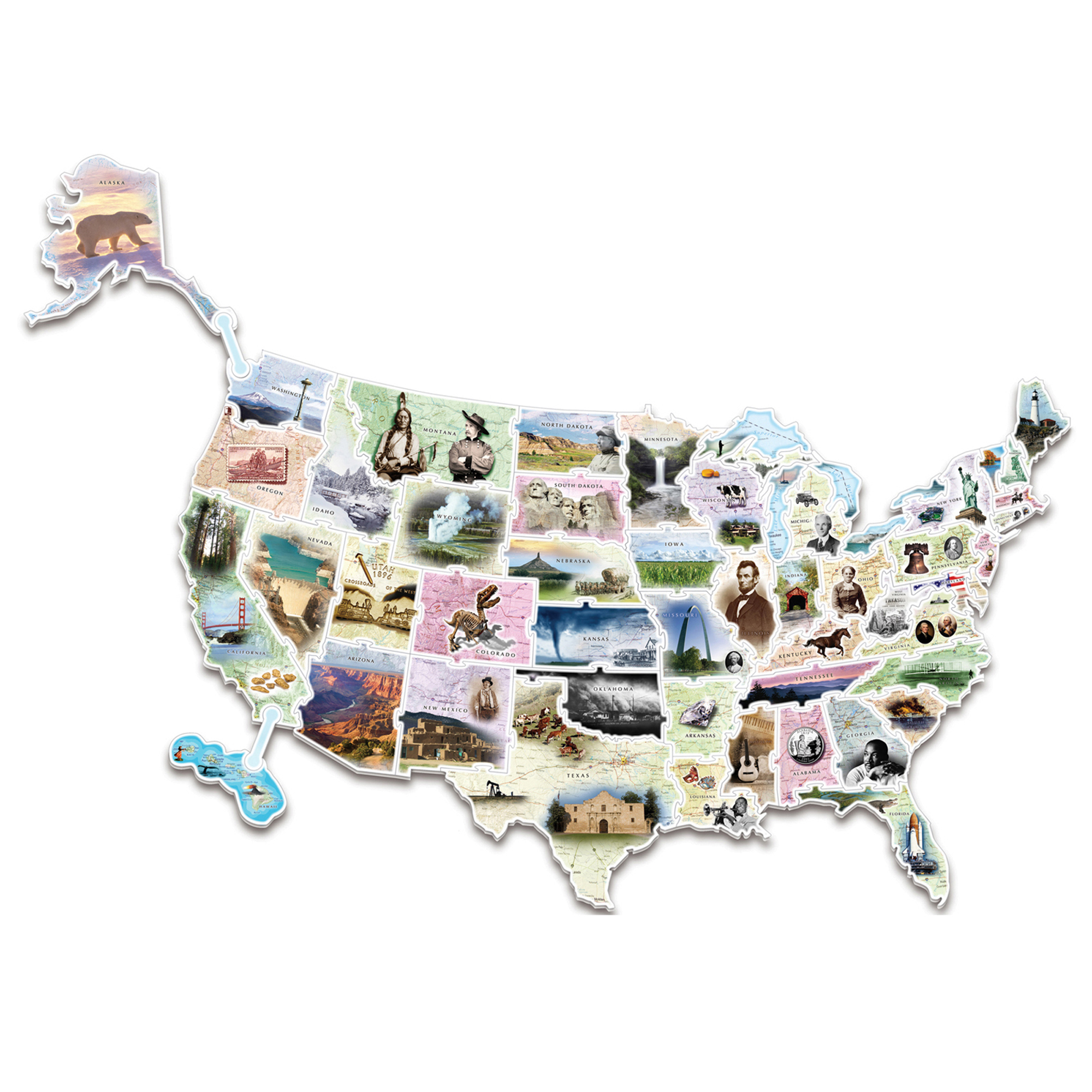 Creativity Street® WonderFoam® Giant USA Photo Puzzle Map