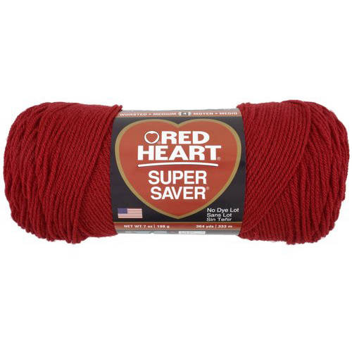Red Heart Super Saver Yarn, Cherry Red