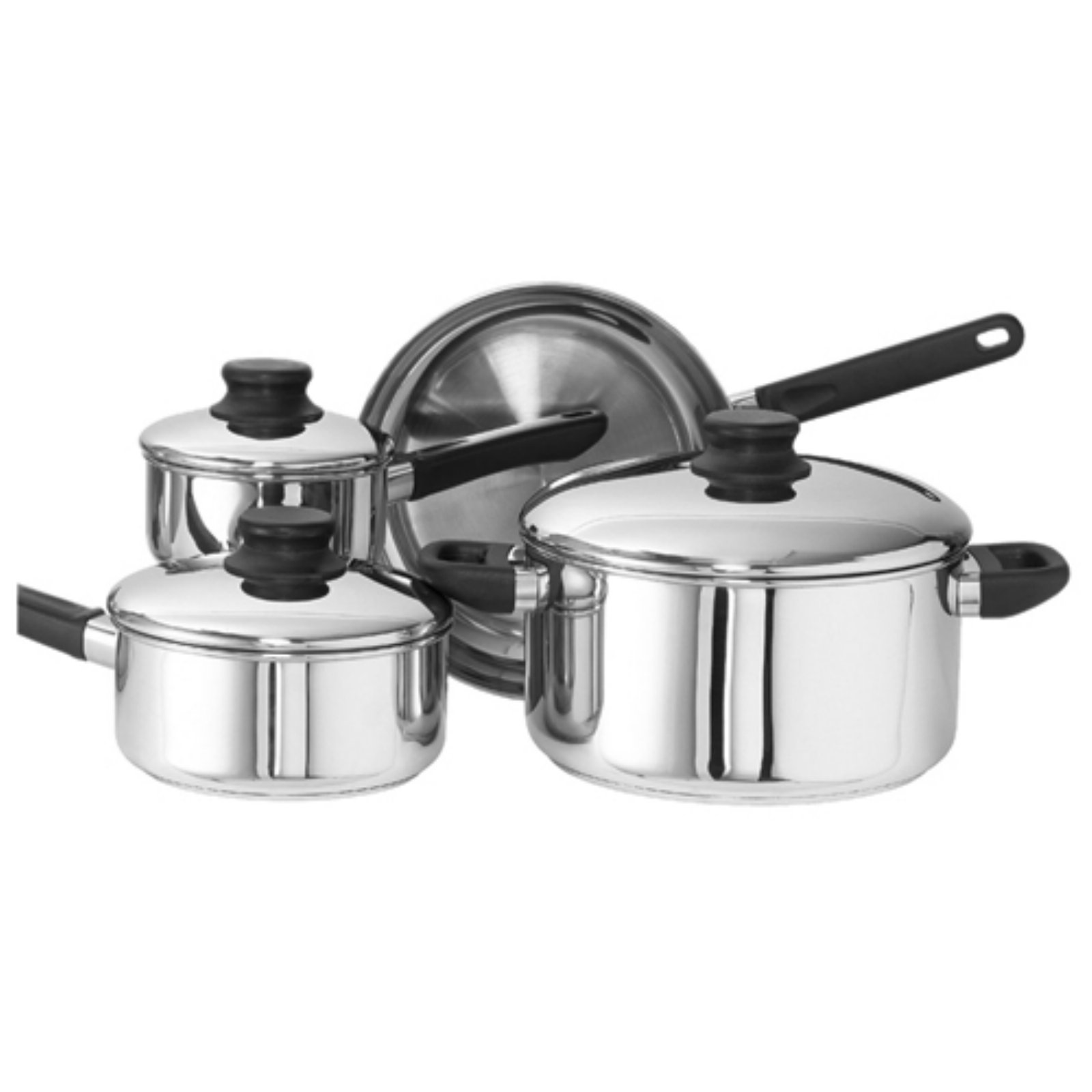 Kinetic Go Green Kitchen Basics Stainless Steel Cookware 7-Piece Set with Lid