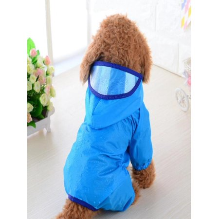 Pet Dog Puppy Rainwear Raincoat Pet Hooded Waterproof Jacket Clothes