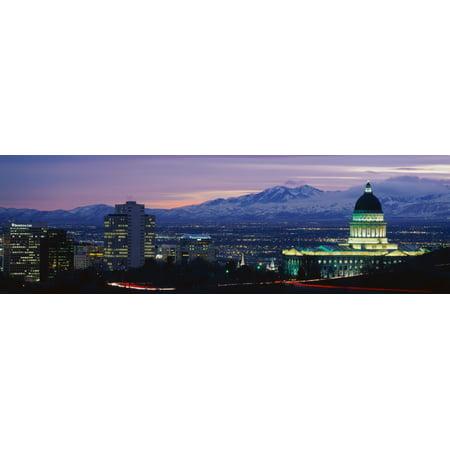 Salt Lake City UT Poster Print