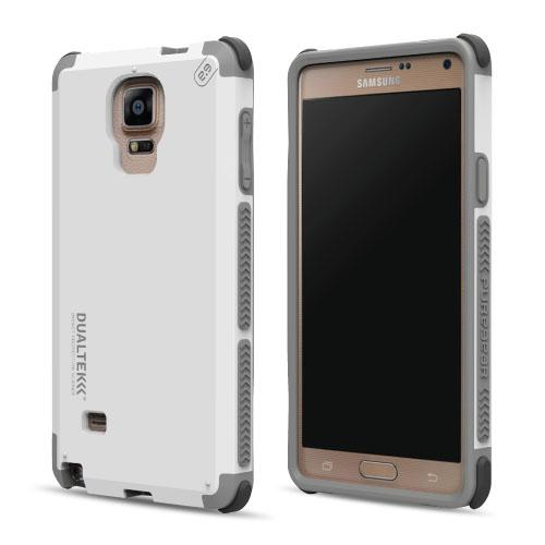 PureGear DualTek Protective Cell Phone Case - Samsung Galaxy Note 4 - White