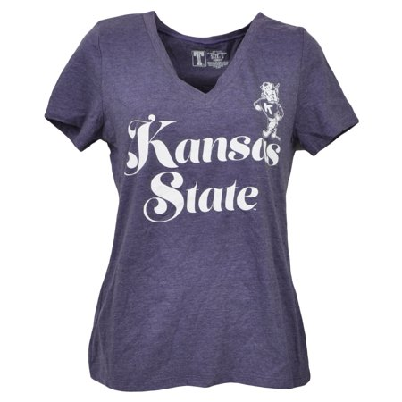 State Wildcats Spring - NCAA Kansas State Wildcats V Neck Purple Short Sleeve Tshirt Tee Womens XLarg
