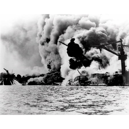 Canvas Print FILE--The infamous Japanese attack on Pearl Harbor, Hawaii, is shown in this Dec. 7, 1941 file photo Stretched Canvas 10 x 14