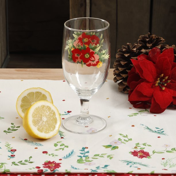 The Pioneer Woman Holiday Cheer Goblet 4 Pack Walmart