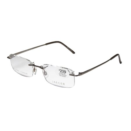 Jaeger Rimless Glasses : New Continental Eyewear Jaeger 232 Mens Designer Rimless ...