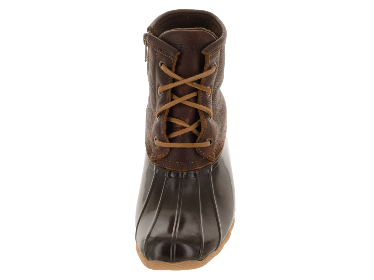Sperry STS91176-070 Women's Saltwater Duck Boots, Tan/Dark Brown, 7 M US