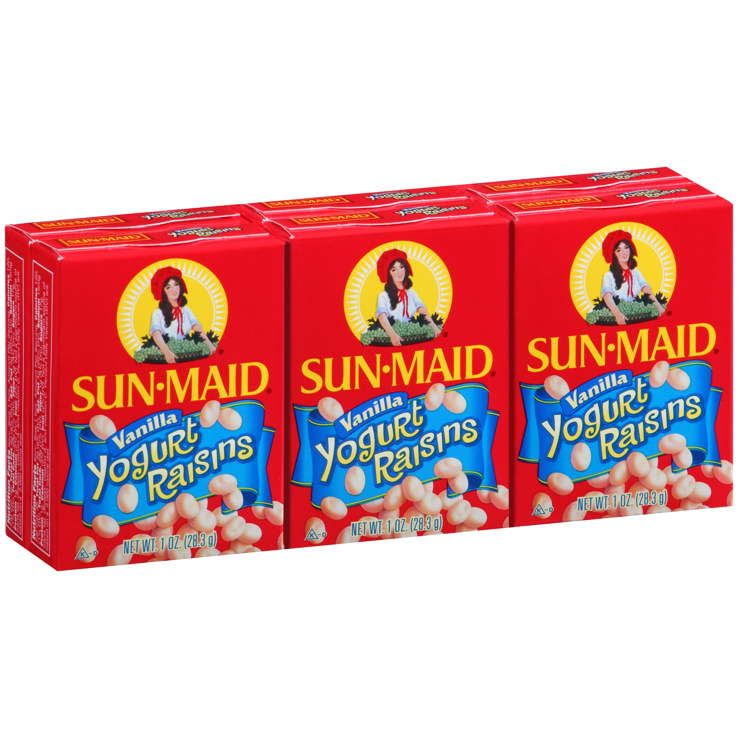 (4 Pack) Sun-Maid Vanilla Yogurt Raisins, 1 Oz, 6 Ct