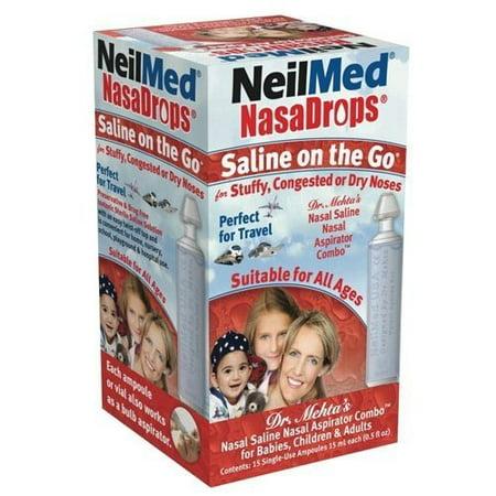Neil Med Nasa Drops Saline Vials, 15 Single-Use Ampoules, 0.5 Fl