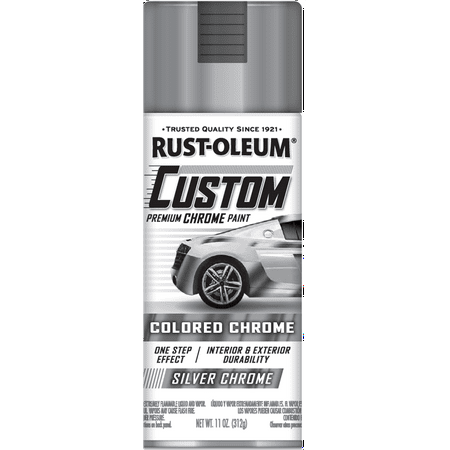 Rust-Oleum Custom Colored Chrome Automotive Spray Paint Silver Chrome, 10