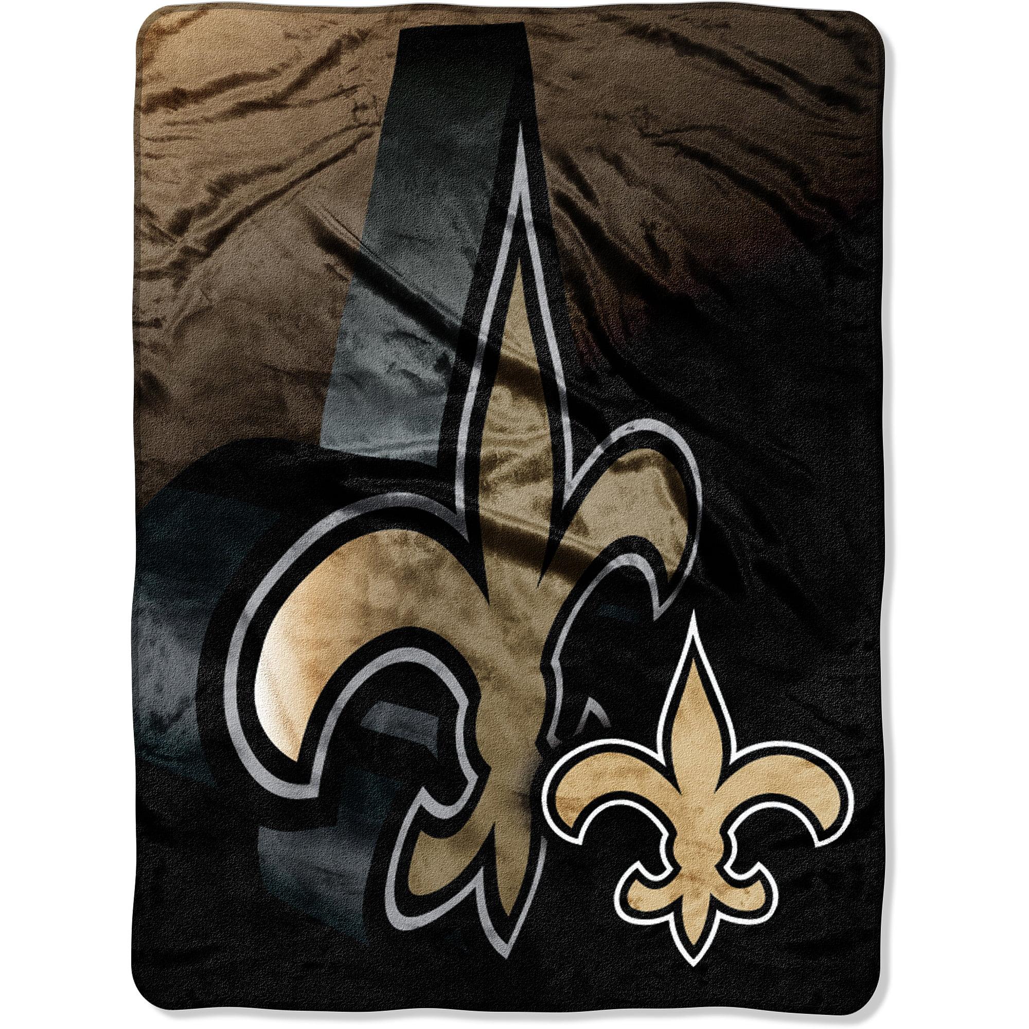 Toddler New Orleans Saints Black Blanket Sleeper