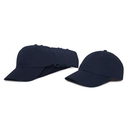 50ac8c01d46ef DALIX Baseball Cap Mens Trucker Hat Dad Hats Caps for Women 12 PACK in Navy  Blue - Walmart.com