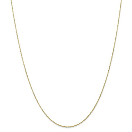 14kt Yellow Gold .7 Mm Carded Cable Link Rope Chain Necklace 16 Inch Pendant Charm Fine Jewelry Ideal Gifts For Women Gift Set From Heart
