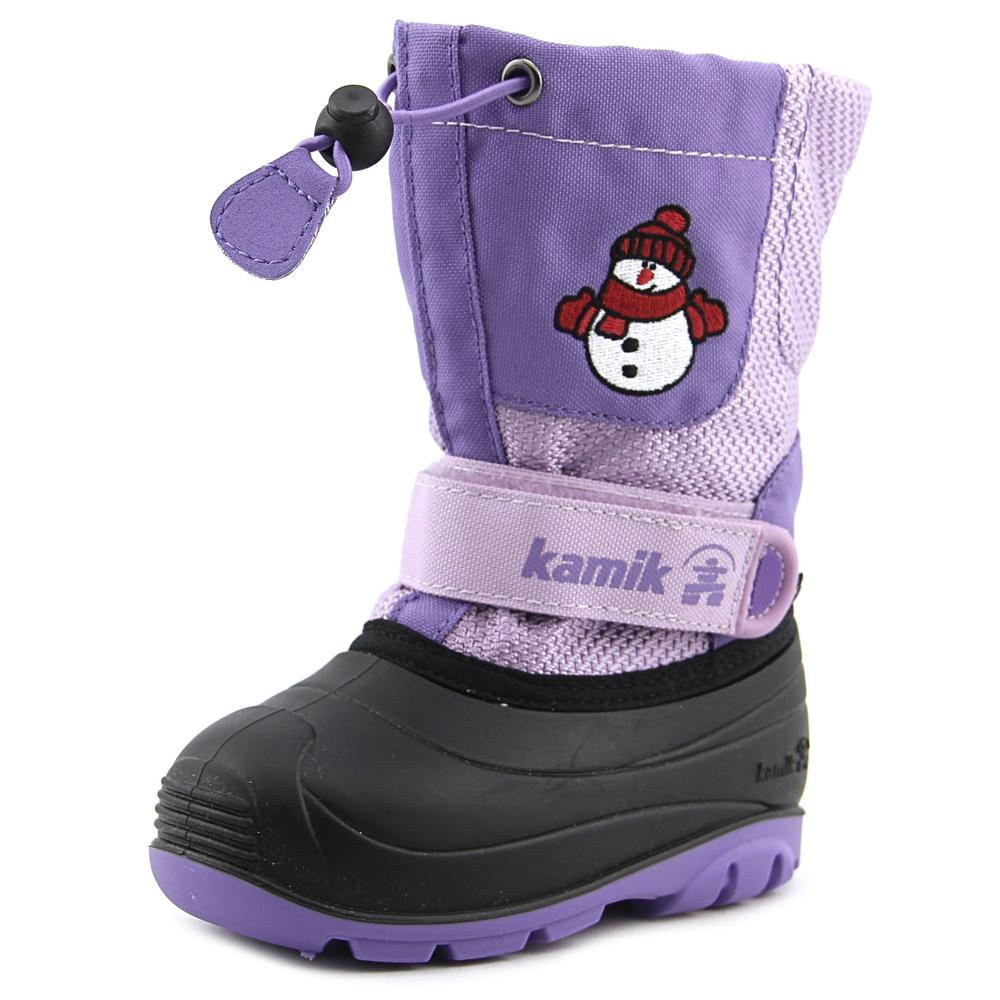Kamik Bomhomme Toddler  Round Toe Canvas Purple Snow Boot