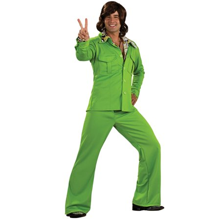 Lime Green Liesure Suit Costume for Men - Green Lantern Mens Costume