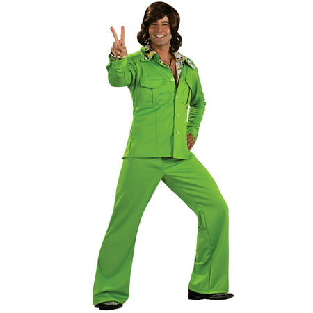 Lime Green Liesure Suit Costume for Men