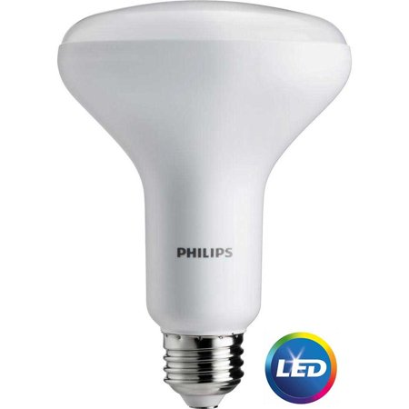 Philips LED Dimmable Flood Light Bulb, BR30, Soft White, 65 WE, 2 Ct ()