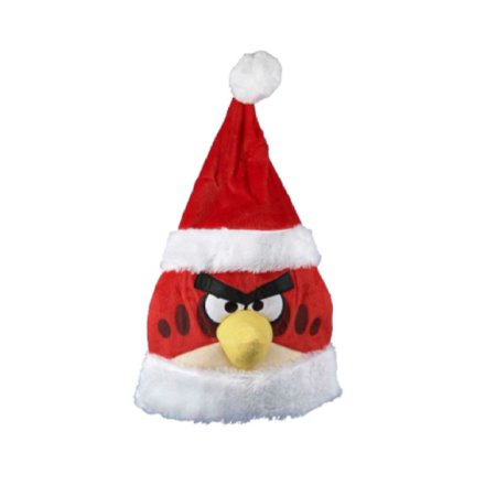 """20"""" Red and White Angry Birds Christmas Santa Hat Accessory"""