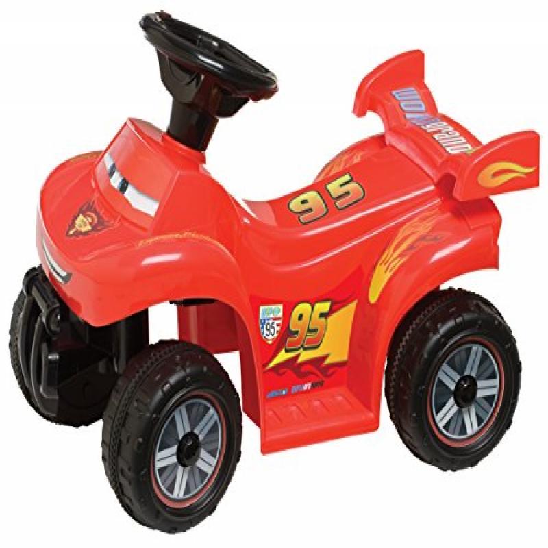 Pacific Cycle Kid Trax Cars Lightning McQueen 6V Quad Rid...