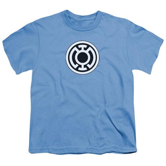 Green Lantern-Blue Lantern Logo Short Sleeve Youth 18-1 Tee, Carolina Blue - Large