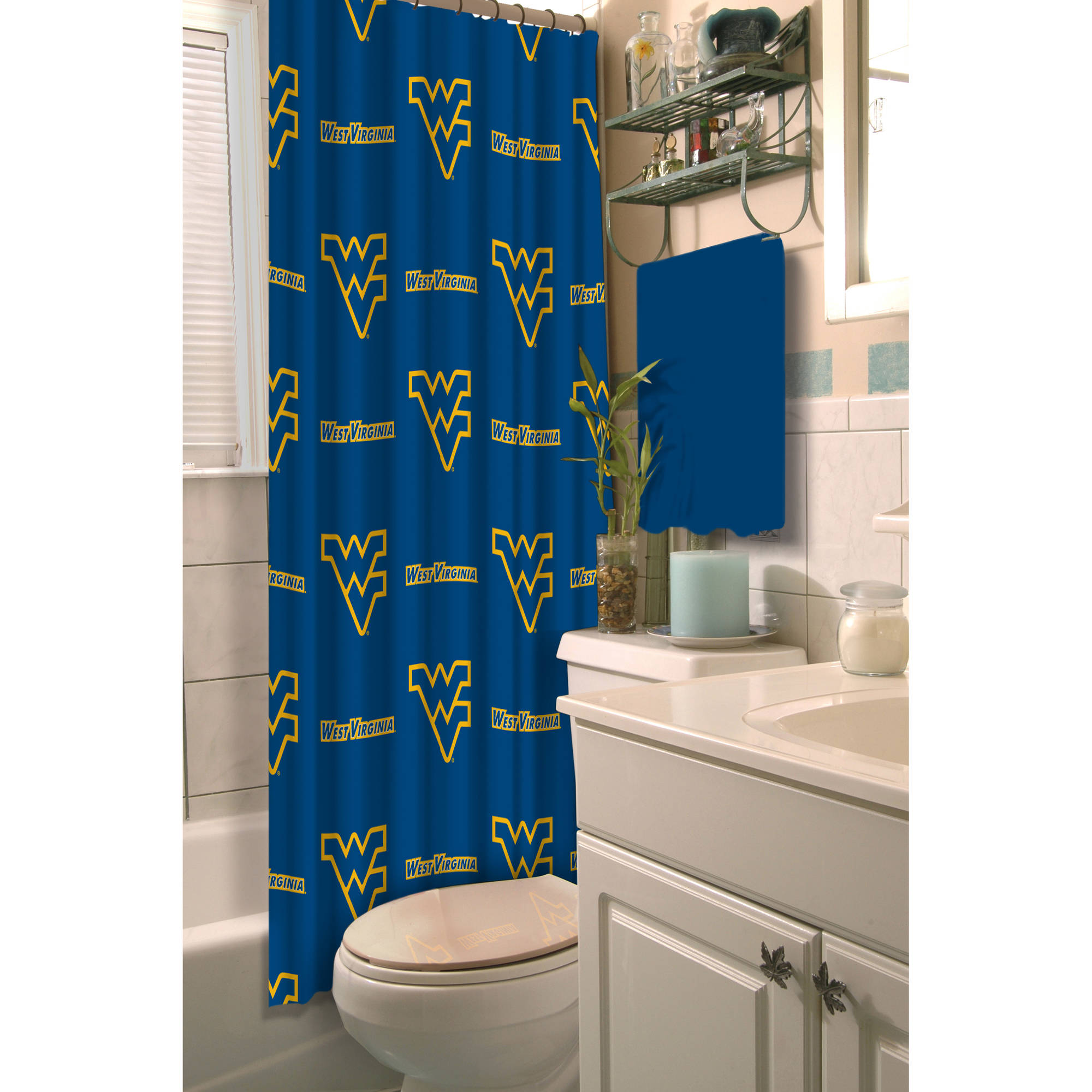 NCAA University of West Virginia Decorative Bath Collection - Shower Curtain