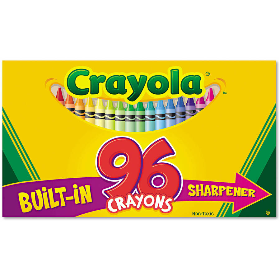 Crayola Classic Color Pack Crayons with Sharpener, 96 Colors
