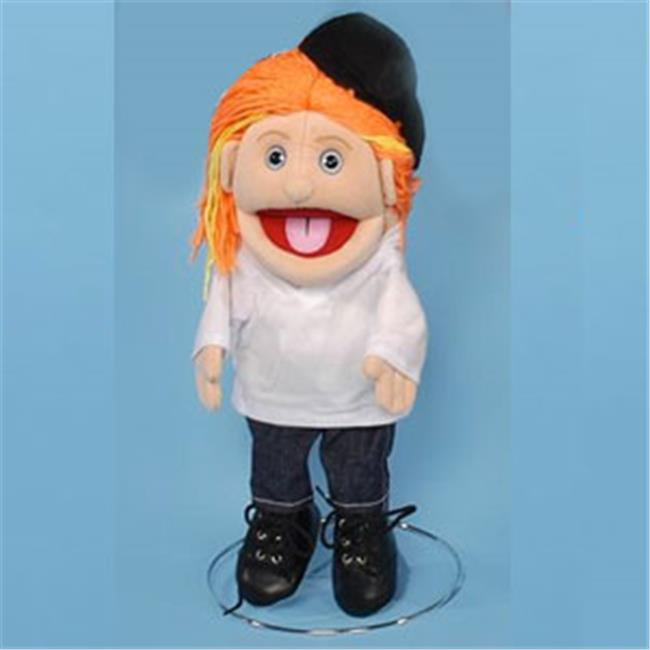 Sunny 14 In. Red-Haired Girl In White Top & Glove Puppet