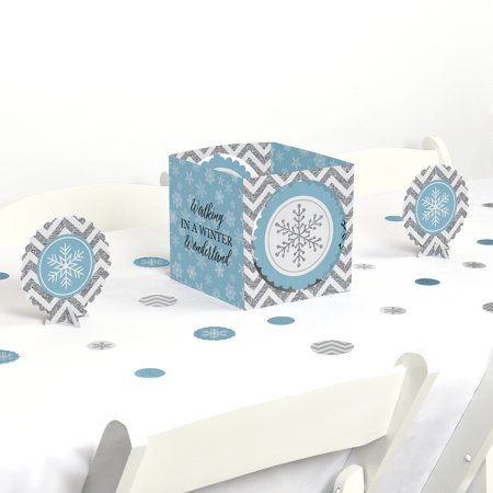 Winter Wonderland - Snowflake Holiday Party & Winter Wedding Centerpiece & Table Decoration Kit](Winter Wonderland Decorations)