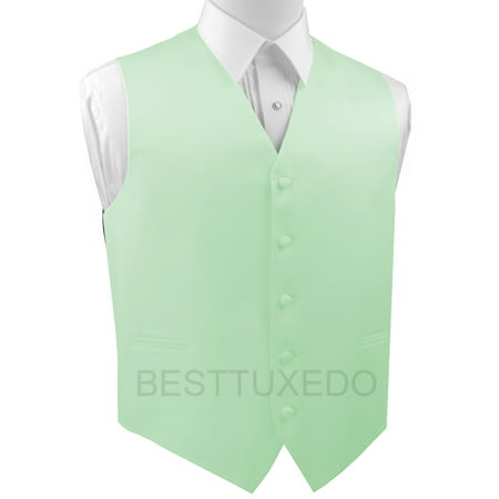 Italian Design, Men's Formal Tuxedo Vest for Prom, Wedding, Cruise , in Mint - Halloween Boston Cruise