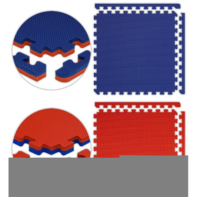 Alessco JSFRRDRB1630 Jumbo Reversible SoftFloors -Red-Royal Blue -16  x 30  Set