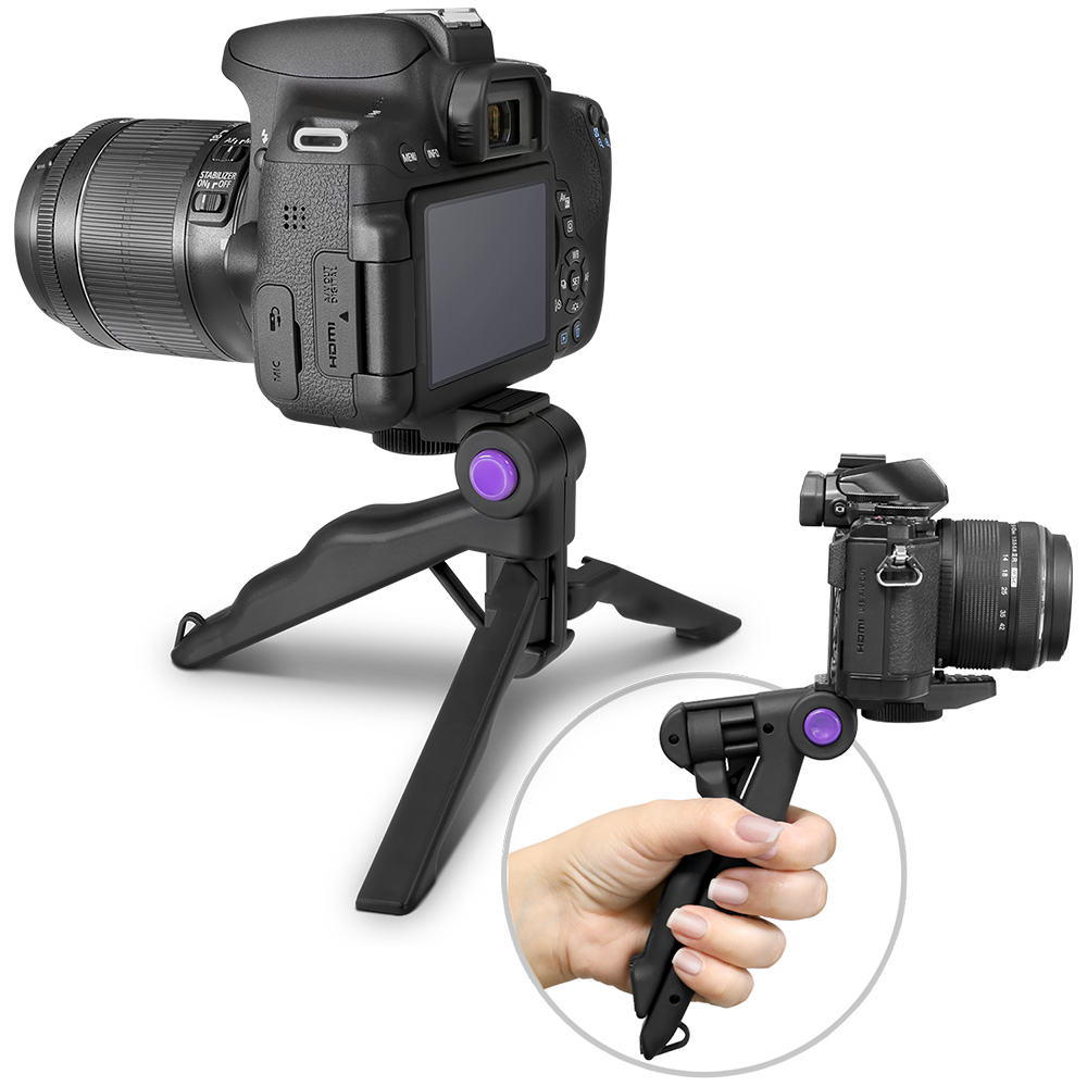 Altura Photo Mini Tripod Tabletop Stand w/ Soft Pistol Grip for DSLR, Audio Recorder and Video Cameras