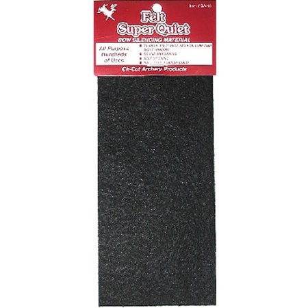 Cir-Cut Felt Silencing Material Black 3.5x10 in. 1 pk.