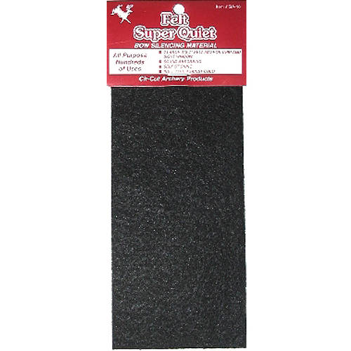 Cir-Cut Felt Silencing Material Black 3.5x10 in. 1 pk.